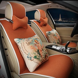 Elegant Single Colored with Cozy Cushions Easy to install Car Seat Cover