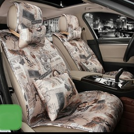 Trendy Design Vintage Patterns And Icons Universal Fit Car Seat Covers