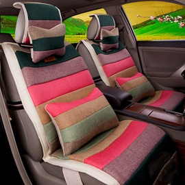 Ventilating and Soft Rainbow Colored Five Seats Universal Car Seat Covers