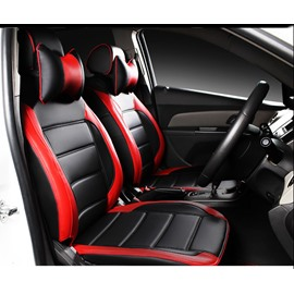 Glossiness Simple And Sleek Design Dual Color Fashion Universal Car Seat Covers
