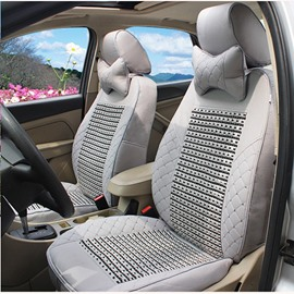 PU Ice Silk Material And Soild Pattern Car Seat Cover