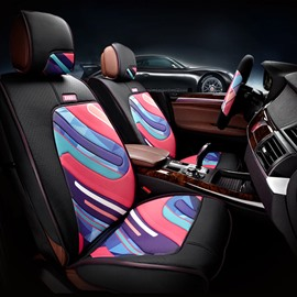 Graffiti Art And Environment Leather Car Seat Cover