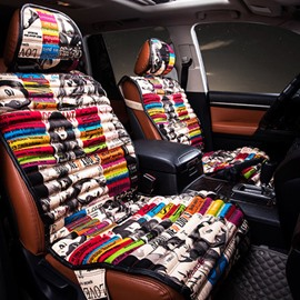 Colorful Graffiti Art Style Most Popular Universal Five Car Seat Cover
