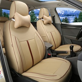 Classic Simplified Design With Streamlined Patterns Universal Car Seat Covers