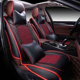 Luxury and Classic Black Red Mixing Universal Car Seat Cover