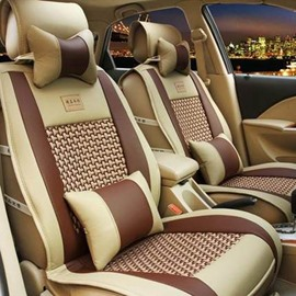 Bamboo Fiber Cooling Pattern Design Comfortable Universal Car Seat Covers