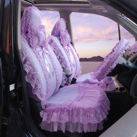 Lovely Lace With Bow Decoration And Attractive Universal Car Seat Cover
