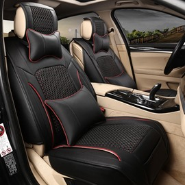 Textured Rubbing And Luxury Leather Ice Silk Mixed Universal Car Seat Cover