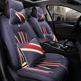 Union Jack Popular Design Pattern Durable Universal Five Car Seat Cover