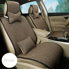Simple Fashion Solid Color Design Cozy Flax Half Pack Universal Car Seat Cover
