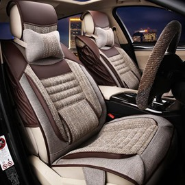 Business Styled Simple Patterns With Comfortable Side Cushions Universal Car Seat Covers
