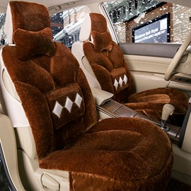 High-Grade Smooth And Soft Plush With Fashion Diamond Element Universal Car Seat Cover