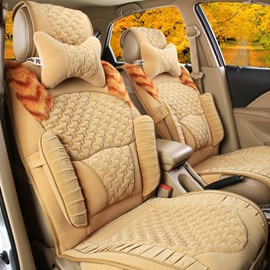 Super Comfortable Soft Plush Material With Three-Dimensional Surface Design Universal Winter Car Seat Cover