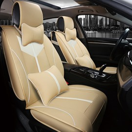 Classic Symmetrical Beautiful Design Durable Leather Universal Car Seat Cover