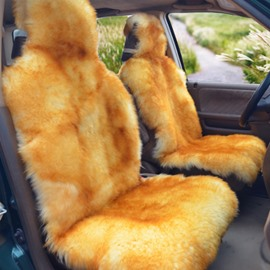 Beautiful Gold Color Mixing Warm Plush Material Cost-Effective Universal Car Seat Cover