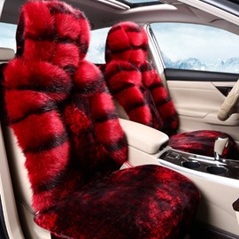 Bright Red Color Super Warm Cost-Effective Plush Material Universal Car Seat Cover
