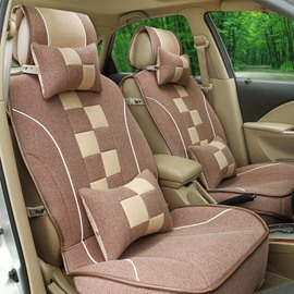 Tetris Style Design With Durable Good Permeability Universal Car Seat Cover
