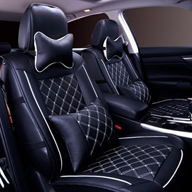 Cool Grid Style Durable PVC Leather Fashion Universal Car Seat Cover