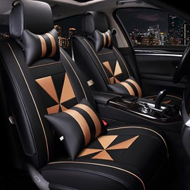 Casual Business Windmills Pattern Durable PU Leather Universal Car Seat Covers