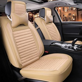 Comfortable And Ventilate Original Solid Colored Five Universal Seats Car Seat Covers