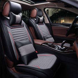 Rubbing And Thermostability Luxury Contrast Color Style Universal Five Car Seat Cover
