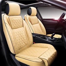 Luxury Beige Color Business And Sport Style Combine Universal Car Seat Cover