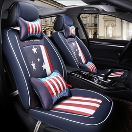 Union Jack Pattern Design Durable PU Leather Universal Five Car Seat Cover