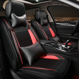 Luxurious Business With Sport Style Design Five Leather Universal Car Seat Cover
