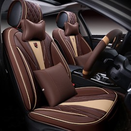 6D Sport Craft Design Dimensional Fashion Contrast Color Universal Five Car Seat Cover