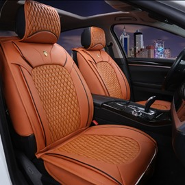 Fresh Orange Popular Color With Durable Leather Material Universal Car Seat Cover