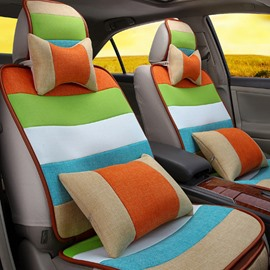 Colorful Rainbow Design Good Permeability High Cost-Effective Universal Five Car Seat Cover