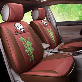 Cute And Lovely Panda Eat Bamboo Pattern Design Good Permeability Universal Car Seat Cover