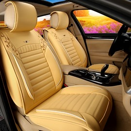 Classic Business Solid Design Durable PU Leather Material Universal Car Seat Cover