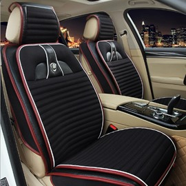 Classic Black Style Popular Durable PU Leather With Soft Velvet Material Universal Car Seat Cover
