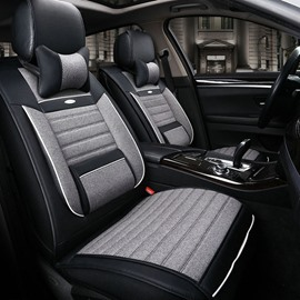 Super High Cost-Effective Classic Black Style Durable PU Leatherette Material Universal Car Seat Cover