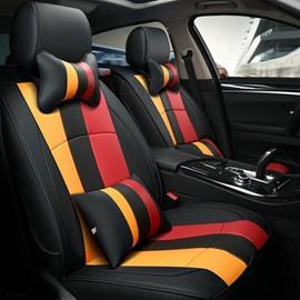 New Popular Design Colorful Bands Pattern Style Universal Five Car Seat Cover