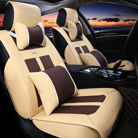 Classic and Durable PU Leather Material Fit Five Universal Seater Car Seat Cover