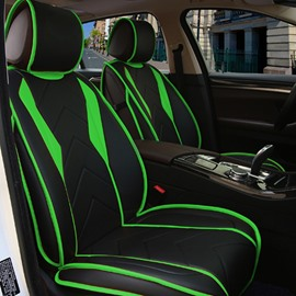 Fashion New Fresh Color Sport Design PU Leatherette Material Universal Five Car Seat Cover