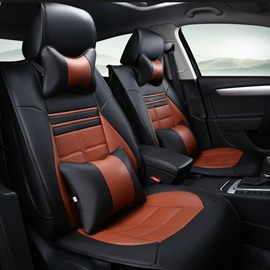 Fashion Fresh Contrast Color Style Sport Design Durable PU Leather Material Universal Car Seat Cover