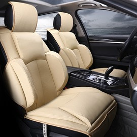3D Fashion Design Sports And Business Style Combination Durable PU Leather Material Universal Car Seat Cover