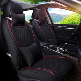 Luxury Textured Black Color High-Grade PET Material Universal Five Car Seat Cover