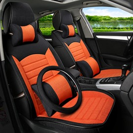 Bright Orange Cost-Effective Durable PET Material Popular Universal Five Car Seat Cover