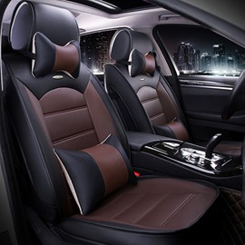 Luxurious Textured Design Contrast Color Business PU Leatherette Material Universal Car Seat Cover