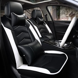 Sports Series Contrasting Design Leather Universal Fit Car Seat Covers