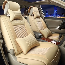 Superior Quality Ice Silk And Rayon Beautiful Design Car Seat Covers