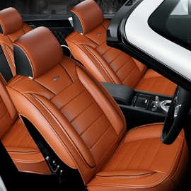 Finely Processed Leather Business Style Design Universal Car Seat Covers