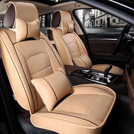 Only One Left in Stock Full Car Seat Cover Auto Interior Accessories Durable Waterproof Unfading Leather Material Front and Rear Split Bench Protection Universal Fit for Auto Truck Van SUV