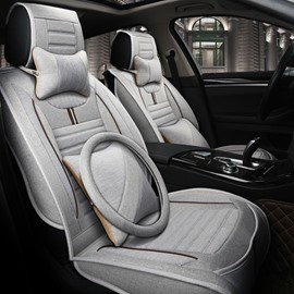 Comfortable Permeability Flax And Natural Fibers Luxurious Car Seat Covers