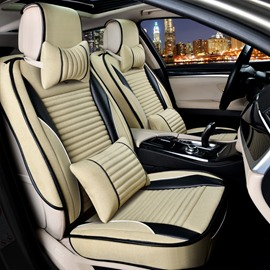 Thick Rubbing Solid Flax And Natural Fibers Luxurious Car Seat Covers