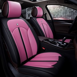 Rubbing Colorful Genuine Leather Durable Soft Cost-Effective Car Seat Covers